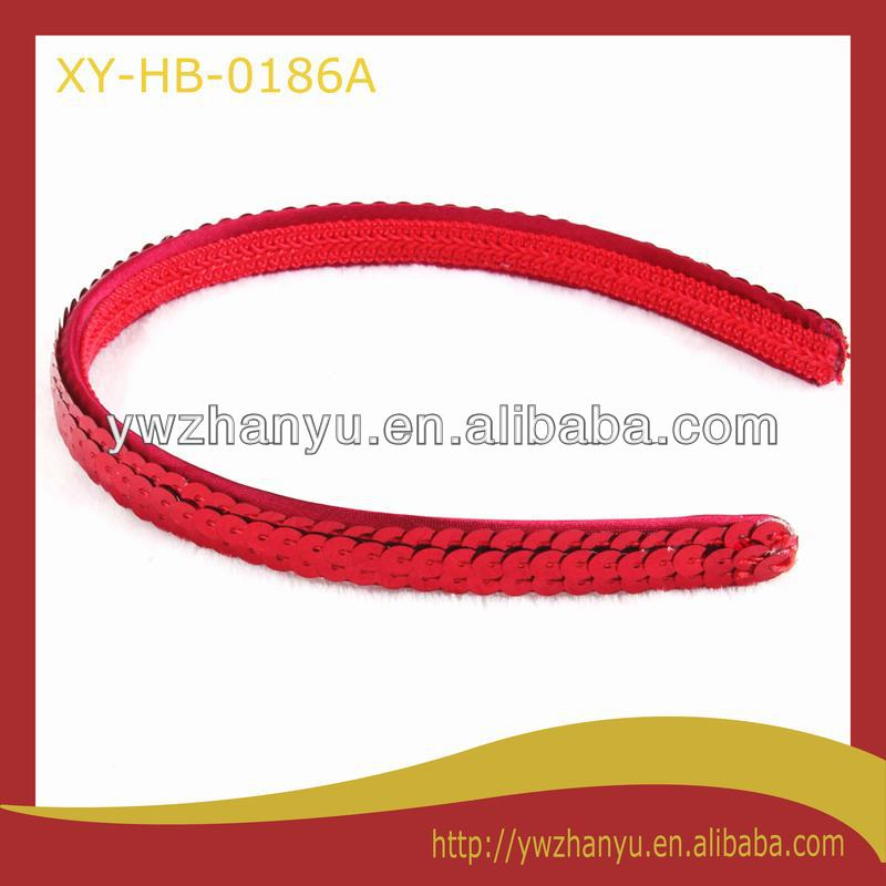 fashion red sparkle sequin plain alice band
