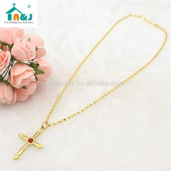 ODM availableOEM welcome hot cross with gold jesus pendant Best selling