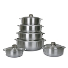 satin polish aluminum caldero aluminum pot cooking pot with glass lid