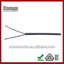 2x0.75mm2 H03VVH2-F pvc insulated electric power cable