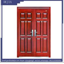 front double swing non-stamndard steel security door simple design