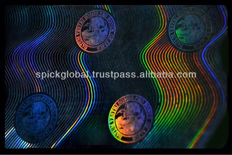 ID Card Holographic overlay ribbons,films usa