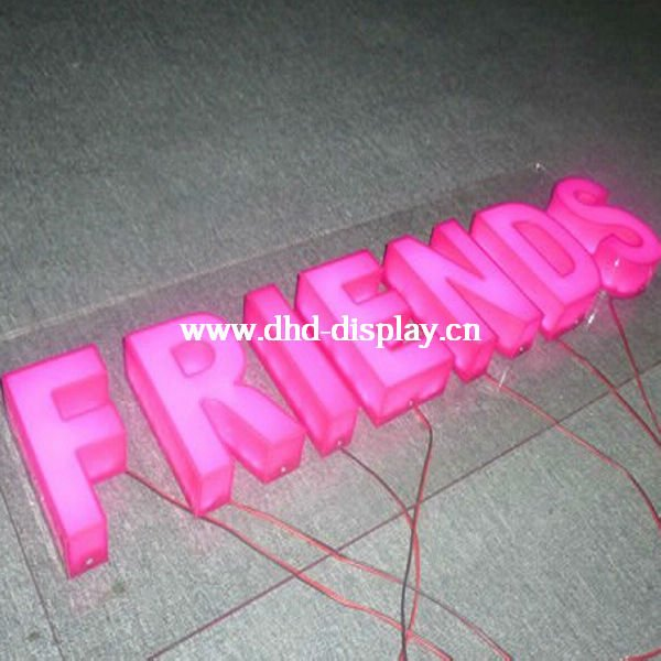 advertising Acrylic LED Lighted words