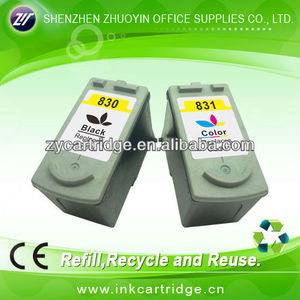 inkjet printer compatible ink cartridge for Canon PG830/CL831