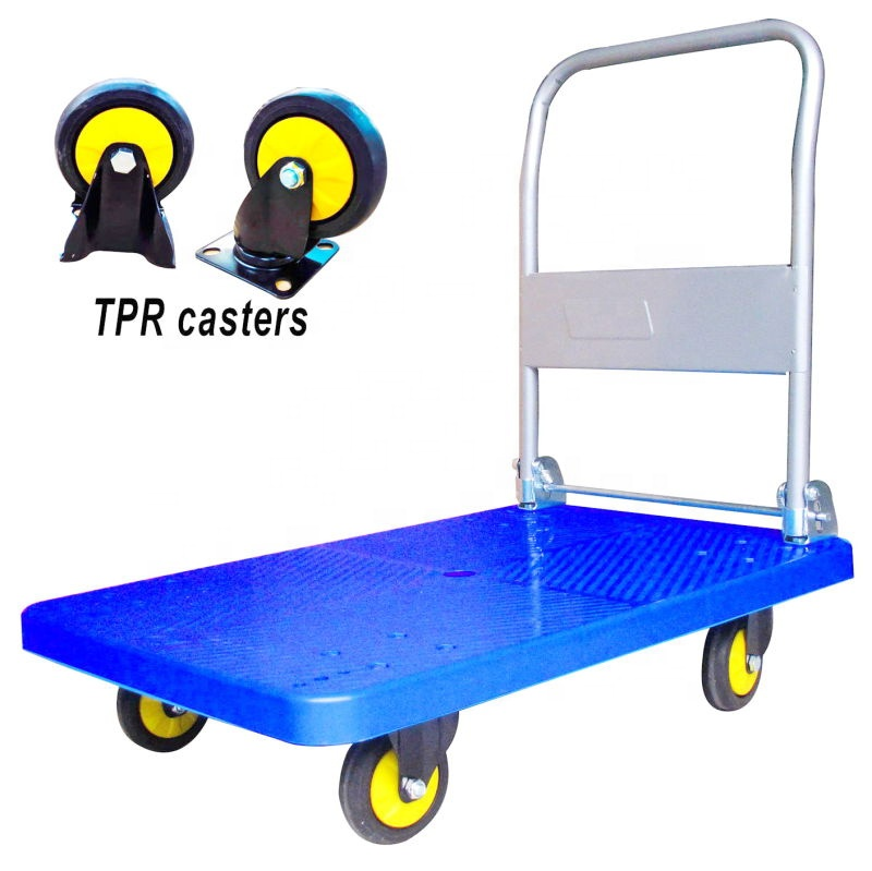 Workshop Tiltable Handcart Trolley, Galvanization Office Delivery Dolly Trolley With Tool