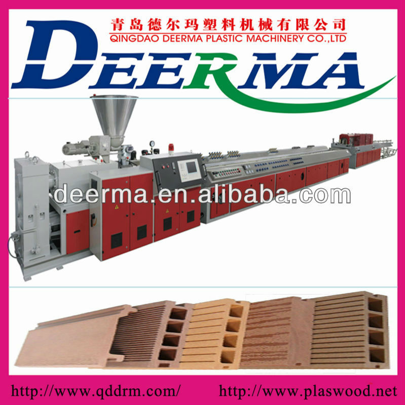 Pvc Wood Plastic Composite Profile Extrusion machine/production lines and machinery