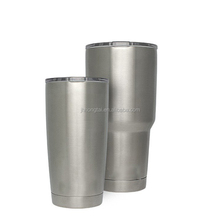 Double insulated polishing luxury tumblers with handle sublimation stainless powder coated tumblers wholesale 30 oz