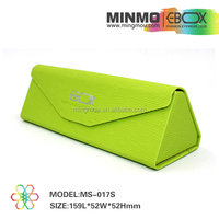 Bright yellow green handmade triangle glasses case,case for glasses,sunglasses holder