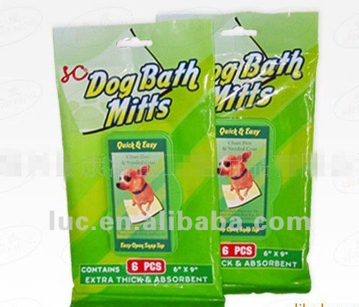6pcs pet wash products/dog bath wipes
