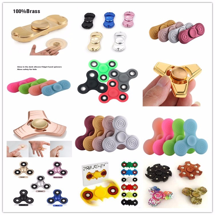 2017 Newest stress release EDC alloy tri fidget hand spinners toy