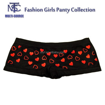 Young Girls Patterned Cotton Panties Printed Boxer