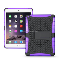 China Manufacturer Hybrid Combo Non-slip Shatterproof Kickstand Case Kid's Tablet Stand Cover For iPad Air 2/For ipad 6