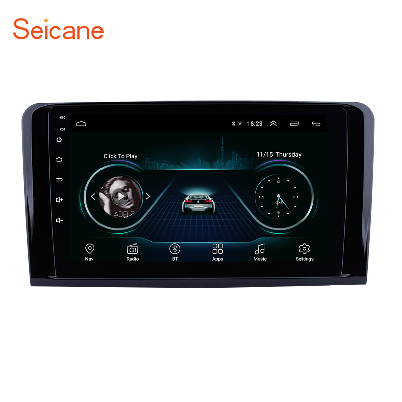 9 inch <strong>Android</strong> 8.1GPS Navigation for 2005 2006-2012 Mercedes Benz ML CLASS <strong>W164</strong> ML350 ML430 ML450 ML500 support 3G WIFI