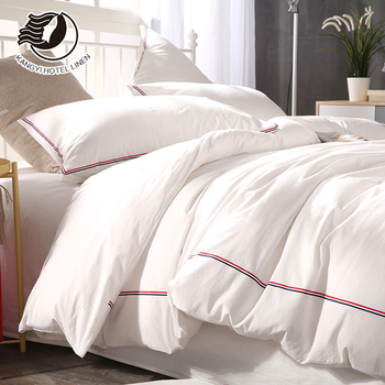 Foshan Factory Embroidery Hotel Bedding Set Jacquard Duvet Cover Set