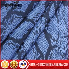 Polyester Suede Snake Printing Fabric