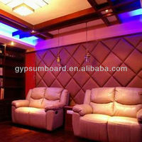 Fiber glass board noice control fabric wrapped wall panels /Acoustic Soundproofing Diso Wall Panel Fabric Acoustic Board