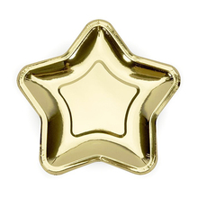 200pcs/carton Gold/silver Foil Paper Star <strong>Plates</strong> Irregular polygon Pentagram Disposable Party Dessert Dishes Supplies