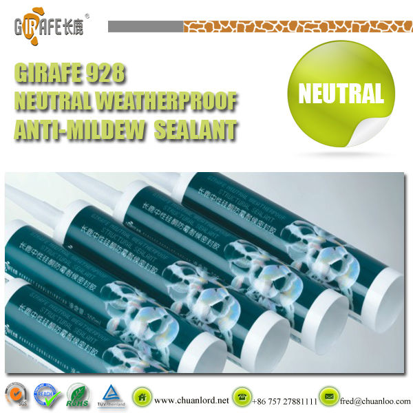 Kitchenware/sanitary ware/aseptic room GIRAFE high strength neutral weatherproof anti-mildew silicone caulking