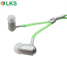 Factory hot selling luminous zipper earphone