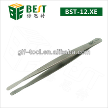 BEST-12.XE Stainless steel german tweezers with round tip
