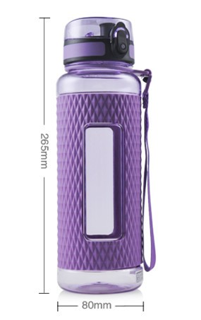 UZSPACE 370ml/450ml/700ml/950ml triton sport plastic water bottle