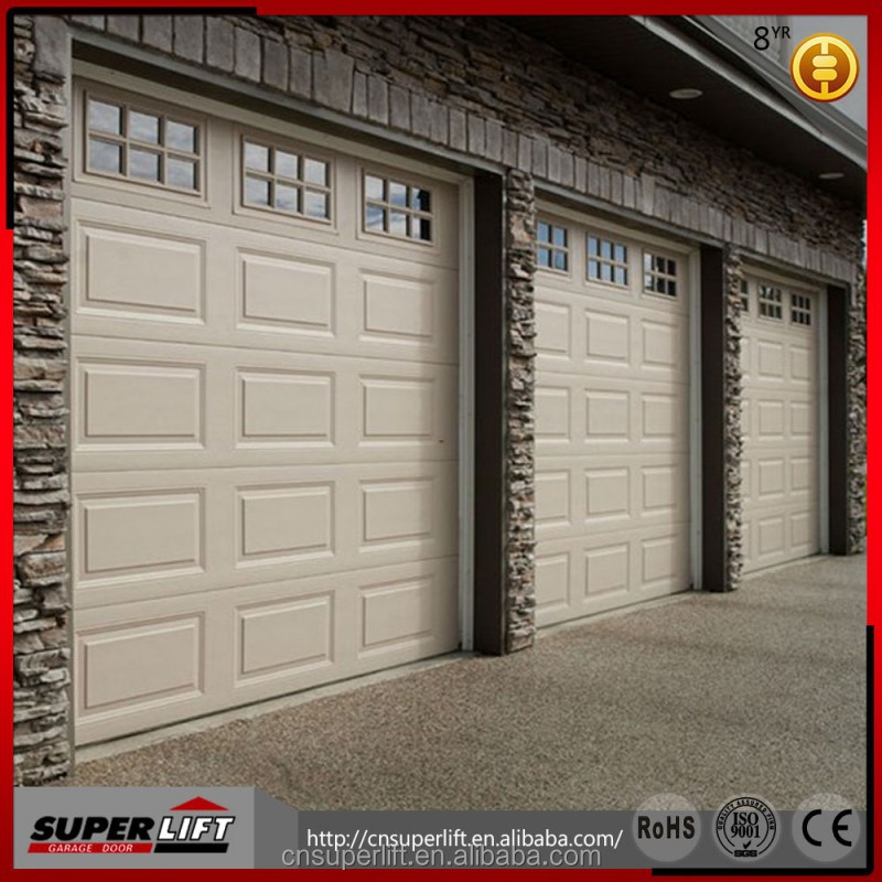 cheap sectional steel garage door--double color steel panel
