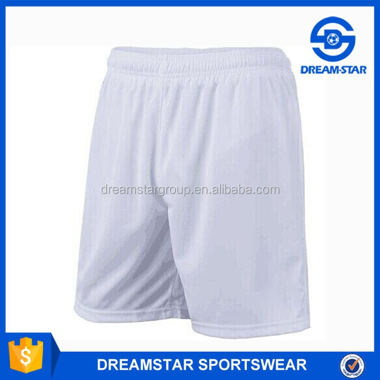 Cheap Wholesale High Quality White Football Shorts