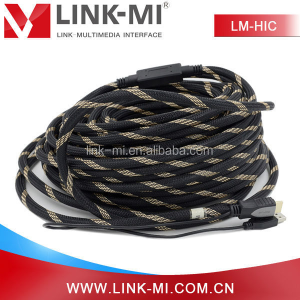 30 meters HDMI V1.4 built-in signal amplifier chip HDMI Cable