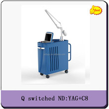New q-switch nd yag laser+C8 long impulse medical tattoo rmeoval