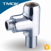 china low price middele east toilet bathroom three way to flow water chromed plated angle seat valve brass material BSP thread