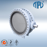 Gear Box Double Eccentric Lug Type A216 WCB Carbon Steel Butterfly Valve