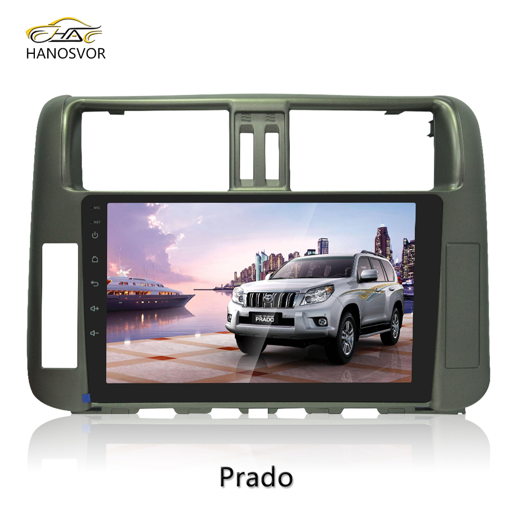 10.1 inch Full Touch Screen Car Stereo Prado 2010111213 Android 6.0 System Audio Radio DVD GPS Player OEM WIFI 3G