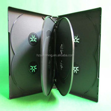 wholesale black pp dvd box holding 8discs with 2 double tray