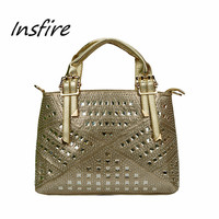 Silver bag handbag elegant tote bags women outdoor dating/visiting hand bag