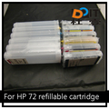 Refillable ink cartridge for HP T1300 T1200 empty ink cartridge for HP 72