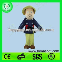 HI CE Customized Adult fireman sam mascot costume