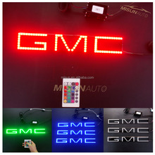 high quality waterproof led halo rings car logo light for GMC