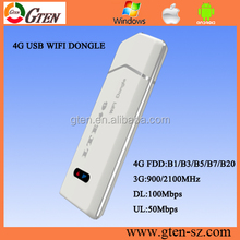 Strong signal 4g LTE wifi Dongle 4g 3g modem internal antenna with sim card slot access to internet