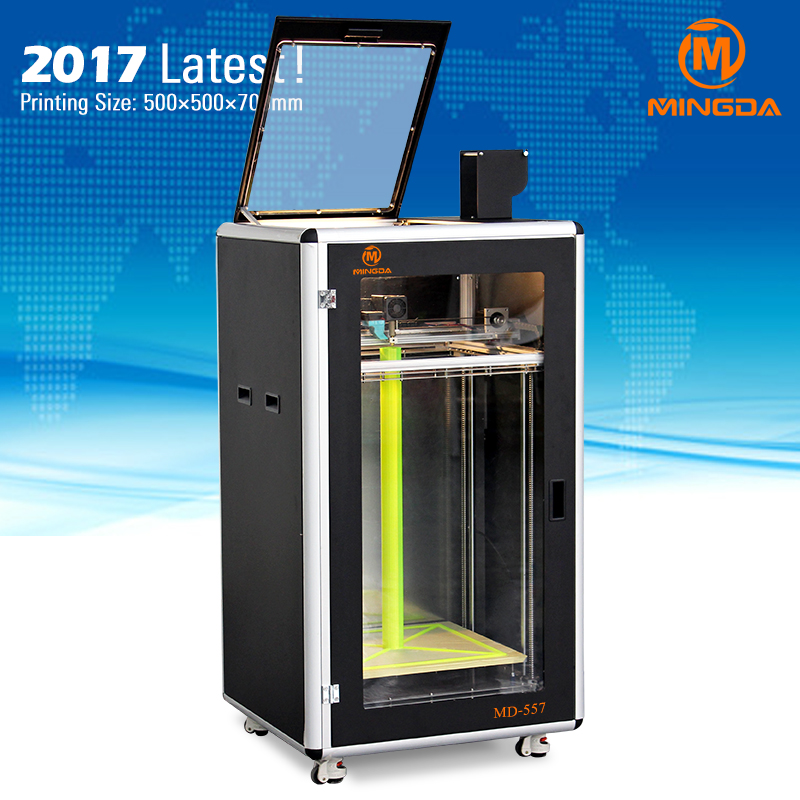 Factory direct OEM largest size 500 * 500 * 700 mm industrial 3d printer with TPU , Nylon , ABS filament , China printer 3d