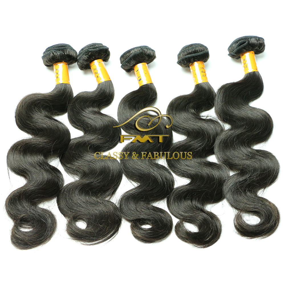 100% raw virgin Peruvian body wave human hair extensions unprocessed beauty elements hair