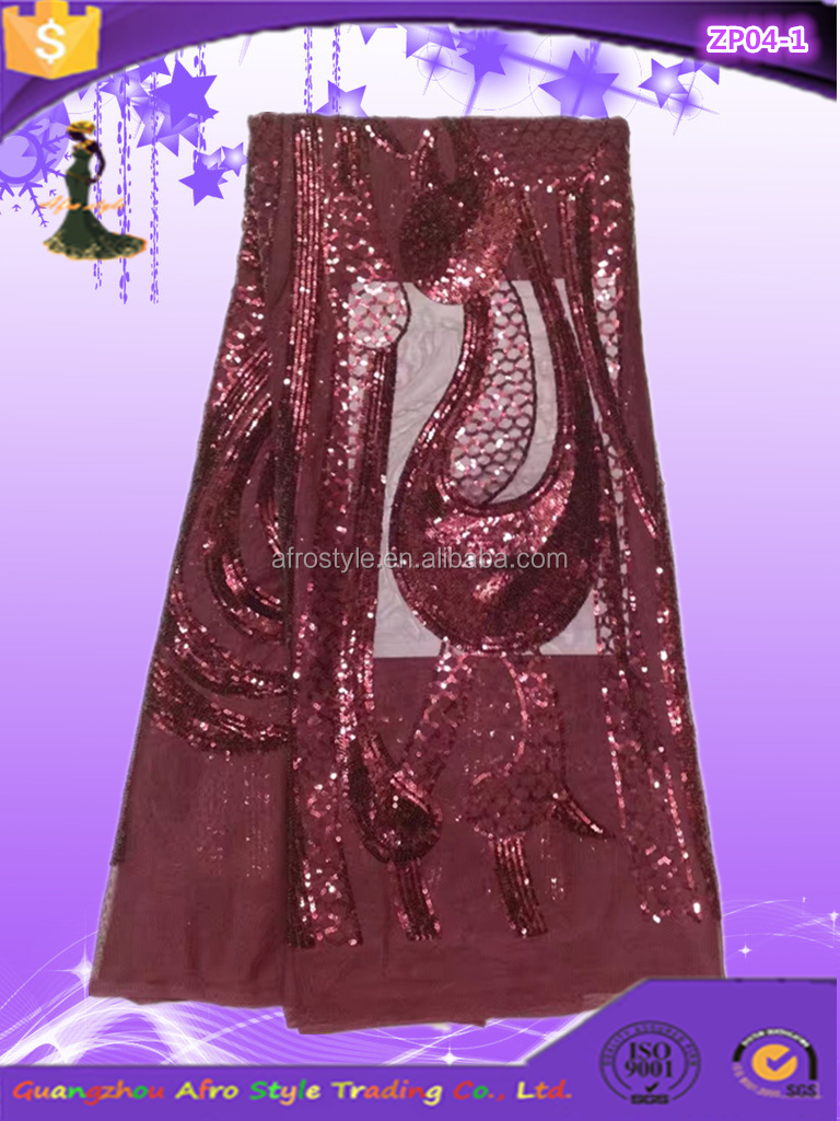 2017 most popular sequin net embroidery fabric With Good Service