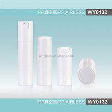 WY0132 round type PP airless bottle, 15ml,30ml,50ml top quality round cosmetic airless bottle