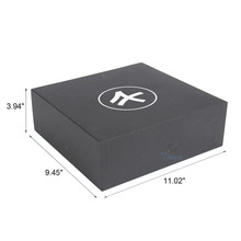 black cardboard fashion apparel packaging order shoe boxes