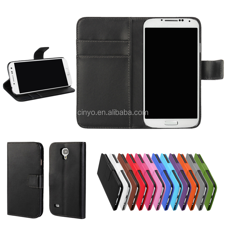 for samsung s4 mini leather case, cell phone cover case for samsung galaxy s4 with credit cards slots