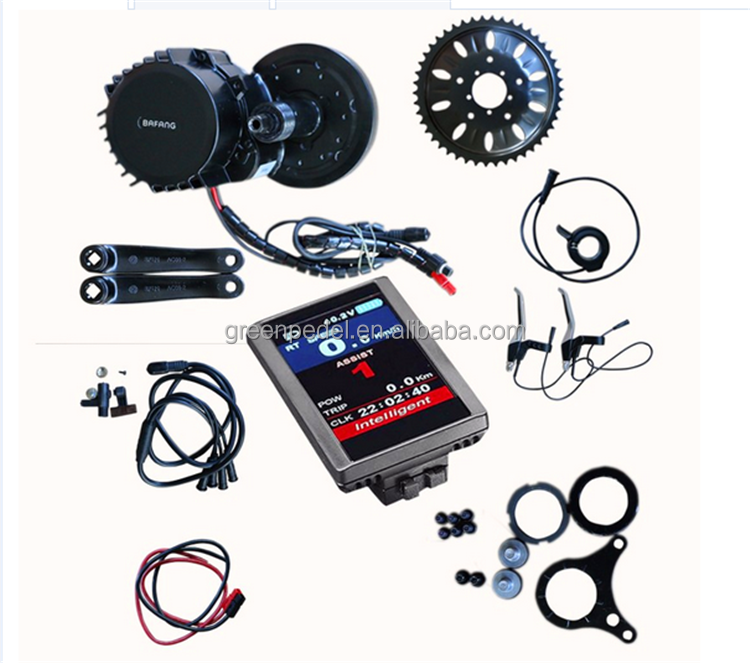 Bafang Bafun Middle drive motor e bike kits BBS01with 850C colorful display
