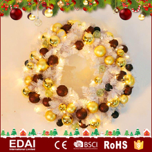 Wholesale colorful pvc virgin decoration christmas wreaths cheap