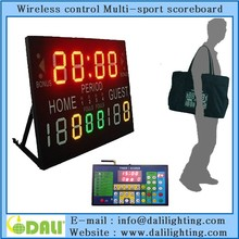 Mini series led scoreboard/handball/karate/tennis,led soccer scoreboard