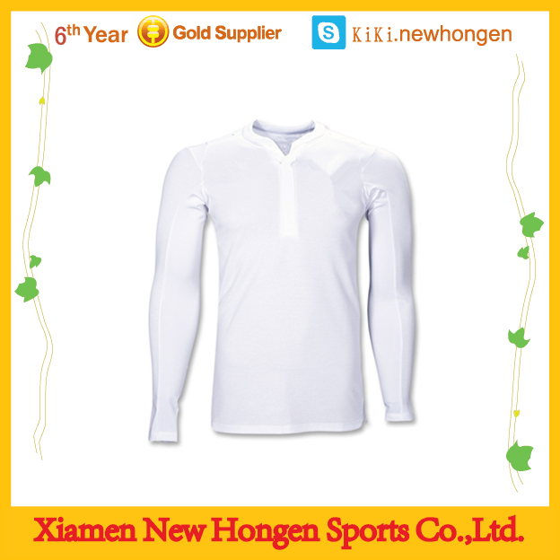 plain white wholesale custom long sleeve soccer jerseys /thai quality blank slim fit soccer jersey