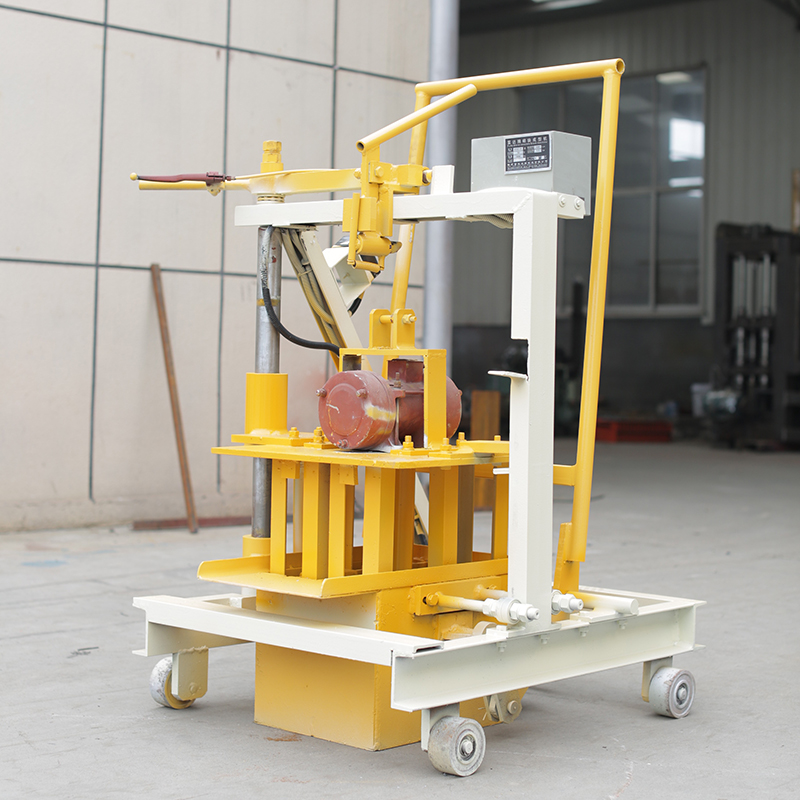 Small QT 40-3C single phase manual interlocking brick making machine