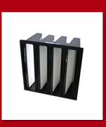 Competitive price compact plastic frame glassfiber mini pleat industrial v-bank cell rigid type h13 hepa air filter